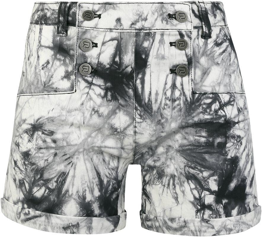 Schwarz Weiße Shorts mit Waschung