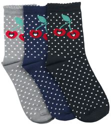 Sweet Dotties 3 Pack Socks