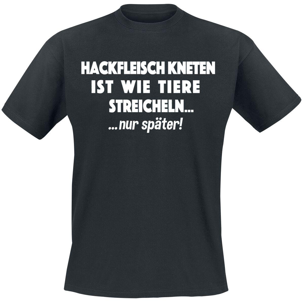 Hackfleisch kneten T-Shirt schwarz T2279 - #B&C #E150