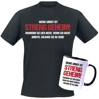 T-shirt + Tasse Streng Geheim