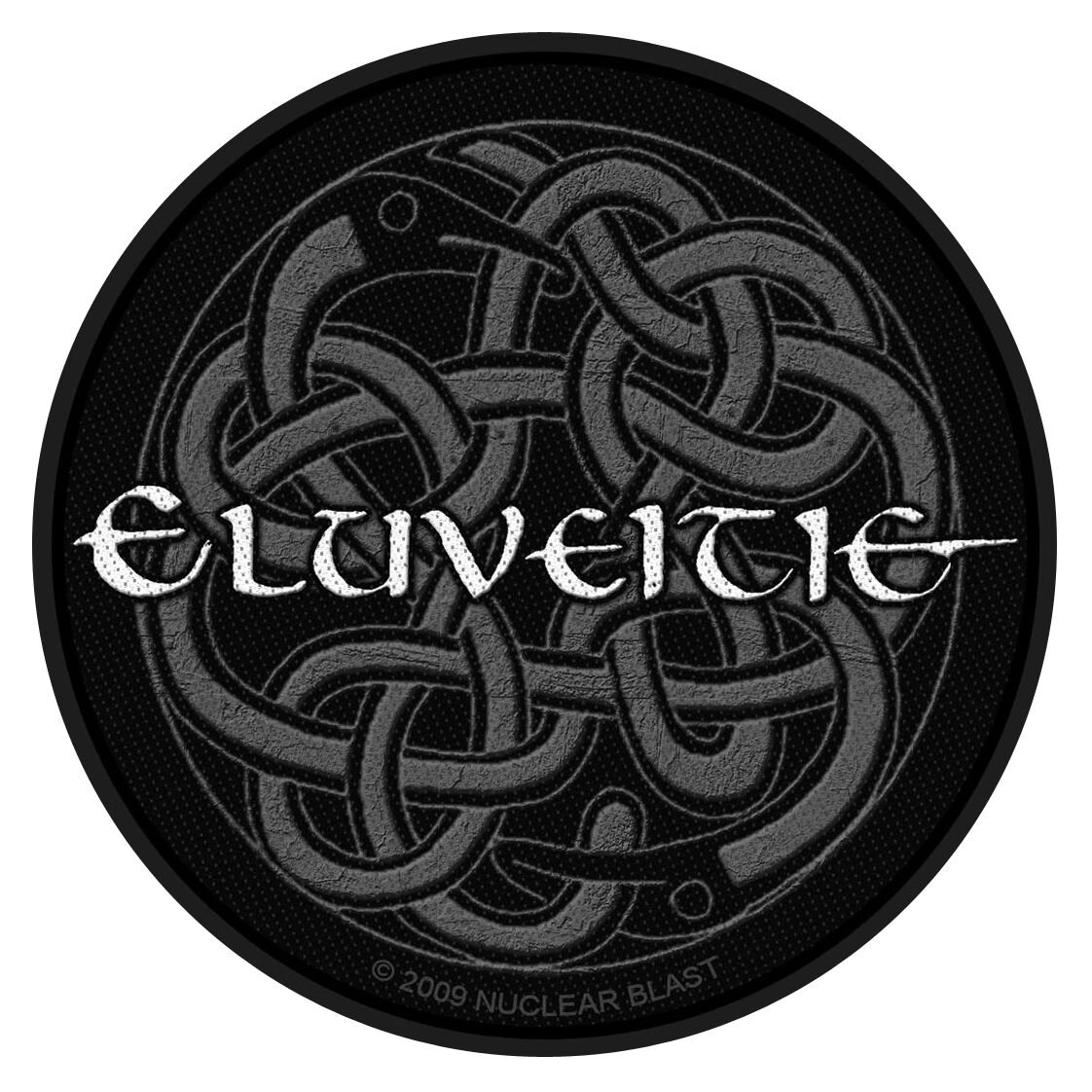Eluveitie  Eluveitie Logo  Patch  schwarz/grau/weiß