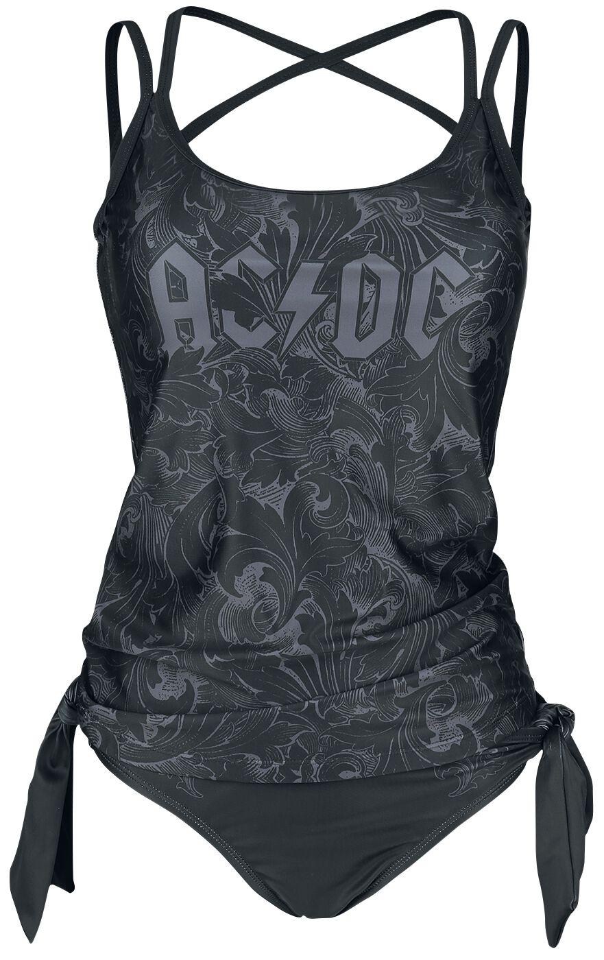 Bademode - AC DC EMP Signature Collection Badeanzug schwarz grau  - Onlineshop EMP