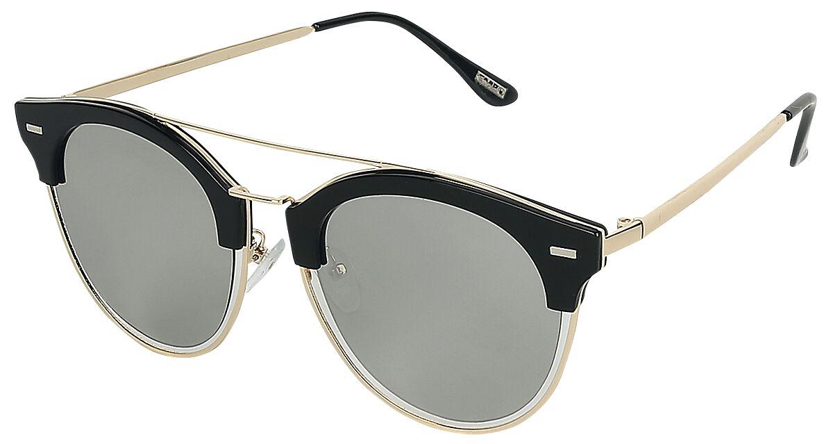 Sonnenbrillen - EMP Flat Lenses Sonnenbrille schwarz gold  - Onlineshop EMP