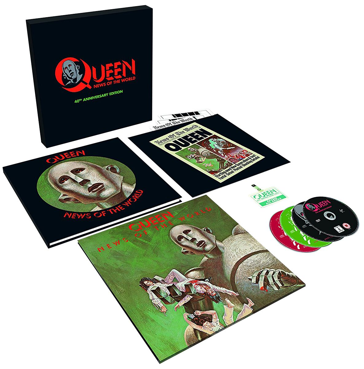 Image of Queen News of the world 3-CD & DVD & LP Standard