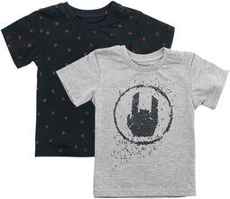 Schwarz/graues Doppelpack T-Shirts