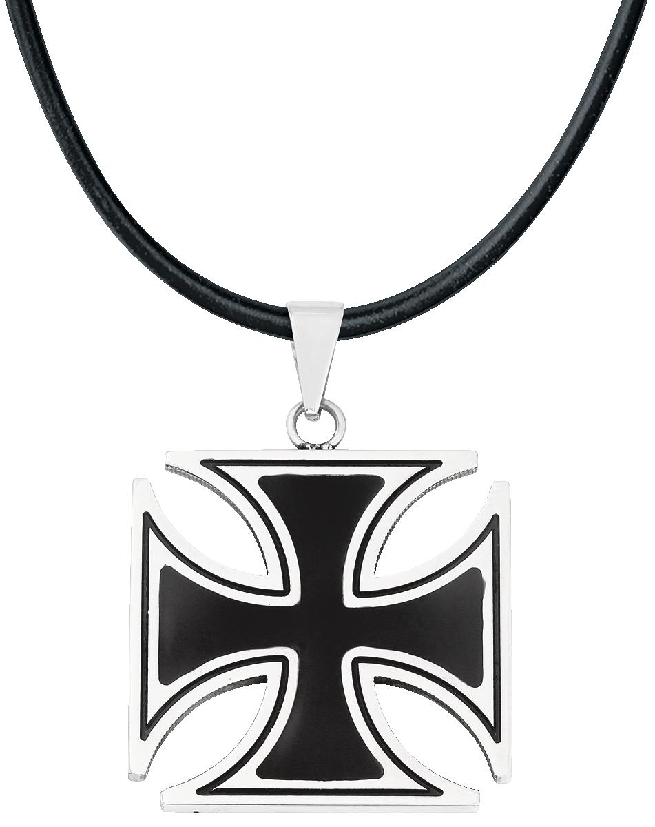 etNox hard and heavy - Black Iron Cross - Anhänger - multicolor
