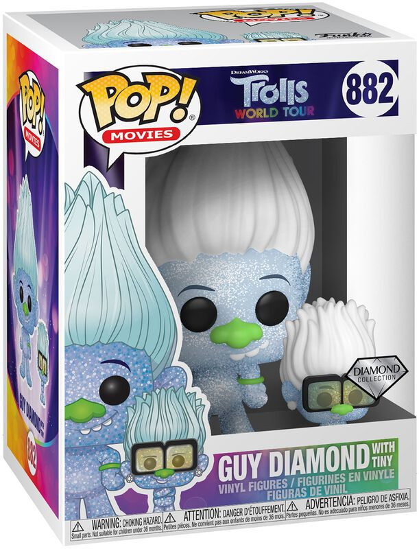 World Tour - Guy Diamond with Tiny (Glitter) Vinyl Figur 882