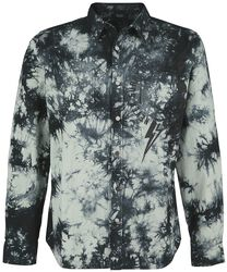 Olivfarbenes Hemd mit Batikwaschung