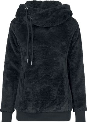 Ladies Long Teddy Hoodie