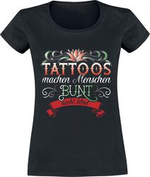 Tattoos machen Menschen bunt nicht blöd