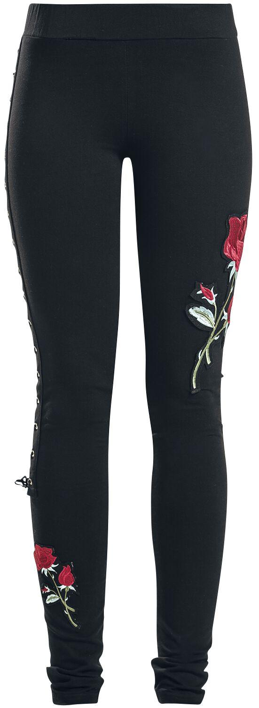 Hosen - Vixxsin Rose Corset Legging Leggings schwarz  - Onlineshop EMP