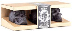 Totenkopf Kohle - 3er Geschenkbox