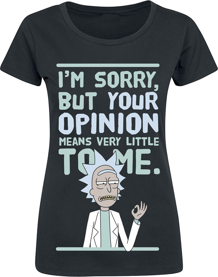Rick And Morty Your Opinion T-Shirt schwarz M377287 BY086 P0023