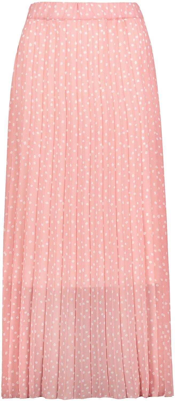 Sublevel Ladie´s Plissee Skirt Langer Rock rosa weiß D50039Y50181C, SPOTS rouge rose-white , 13000