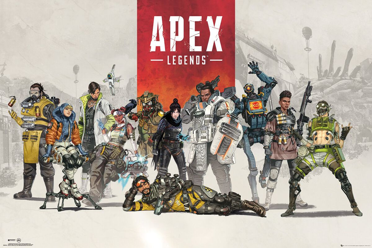 Image of Apex Legends Group Poster multicolor