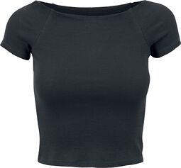 Ladies Off Shoulder Rib Tee