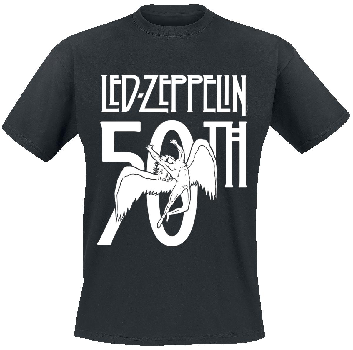 Led Zeppelin - 50th Logo - T-Shirt - black image