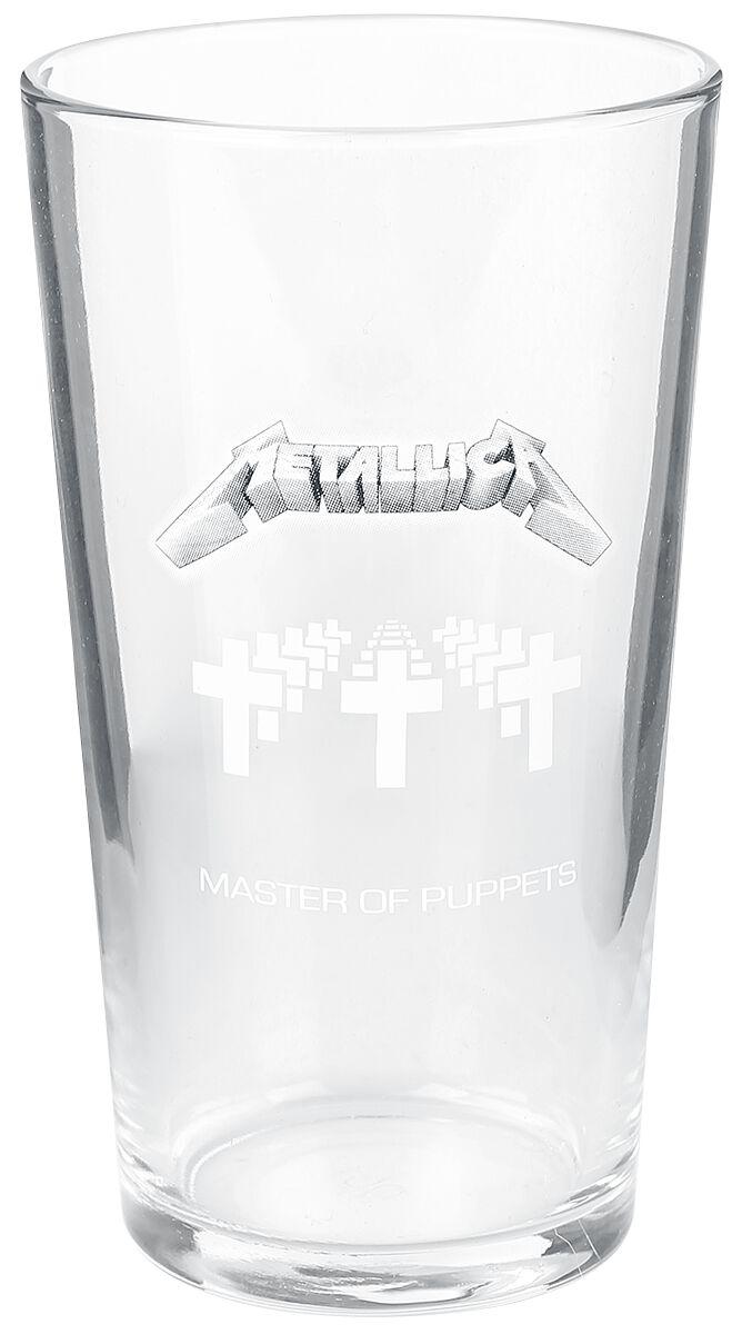 Metallica Master Of Puppets Pint-Glas klar BG086