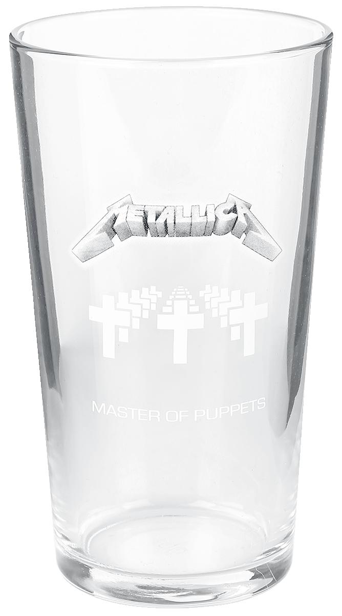 Metallica - Master Of Puppets - Pint-Glas - klar