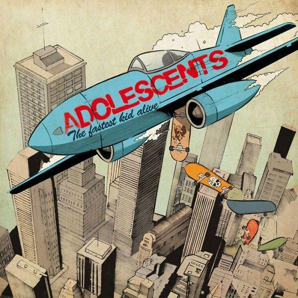 Adolescents - The fastest kid alive (10th anniversary) - LP - orange|blau