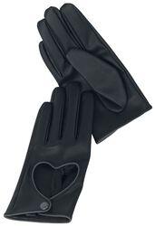 Handschuhe mit Herz-Cut-Out Black Premium