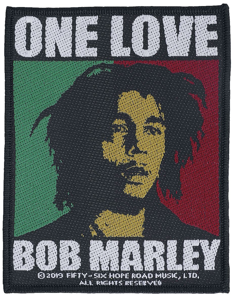 Bob Marley  One Love  Patch  multicolor