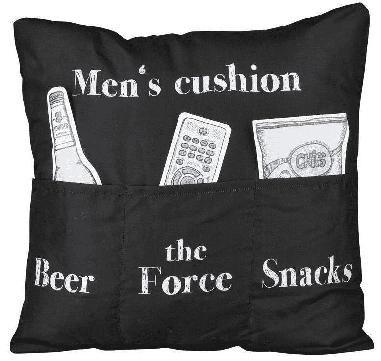 Men's Cushion   Kissen  schwarz