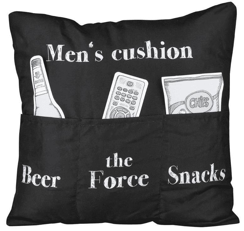 Men's Cushion -  - Kissen - schwarz