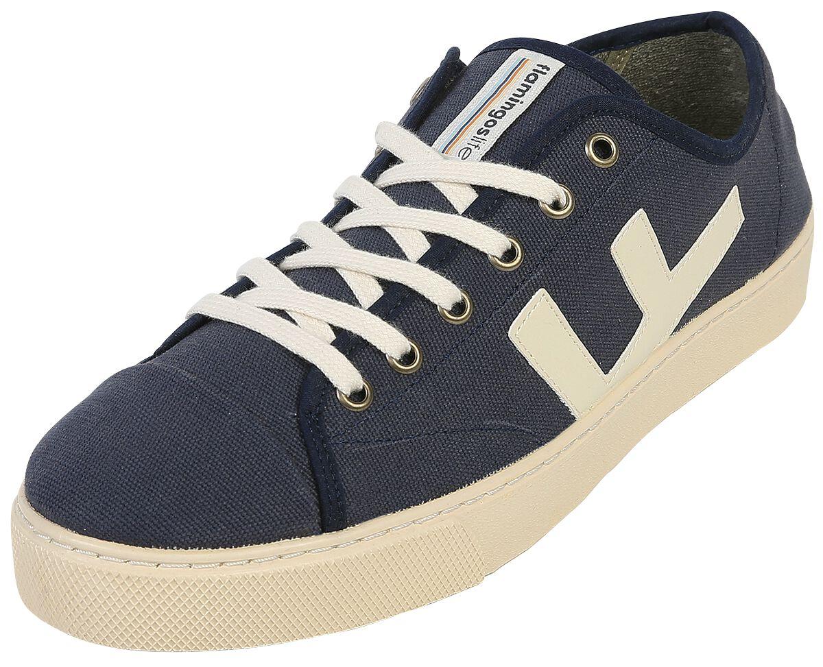 Sneakers - Flamingos' Life Rancho Jeans Ivory Sneaker blau weiß  - Onlineshop EMP