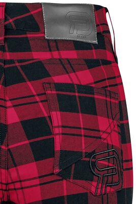 Skarlett - rot/schwarz karierte Hose