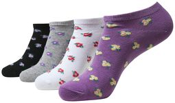 Recycled Yarn Flower Invisible Socks 4-Pack