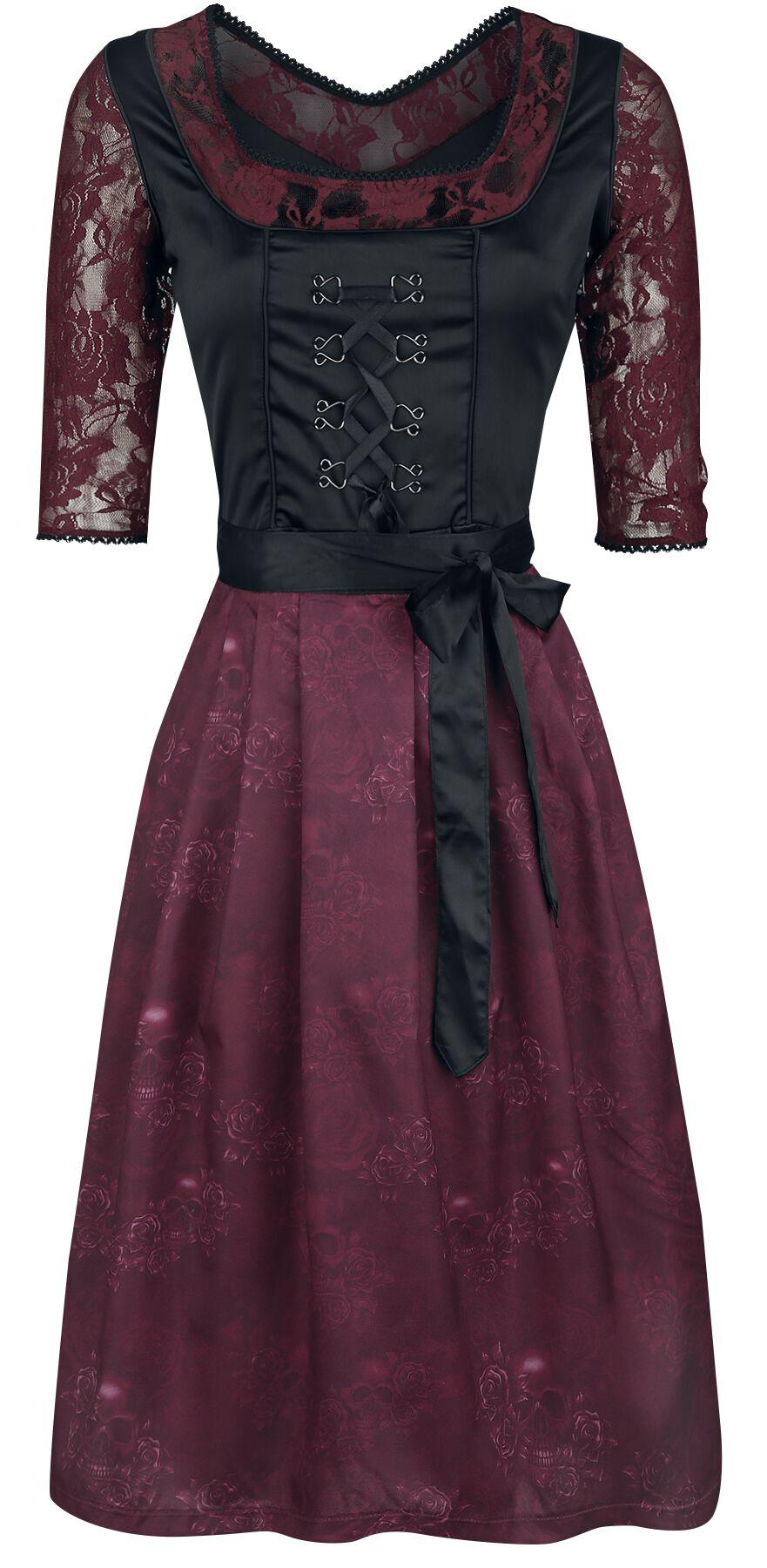 Kleider - Black Premium by EMP Hedi's Dirndl Mittellanges Kleid schwarz bordeaux  - Onlineshop EMP
