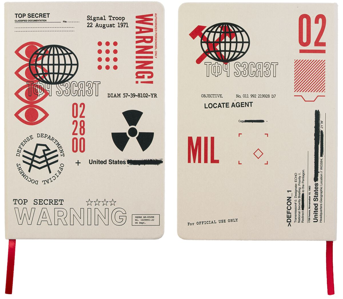 Call Of Duty  Cold War - Top Secret Documents  Notizbuch  multicolor