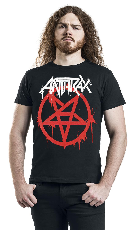 Image of Anthrax Graffiti Pentathrax T-Shirt schwarz
