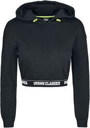 Ladies Logo Waistband Croppy Hoody