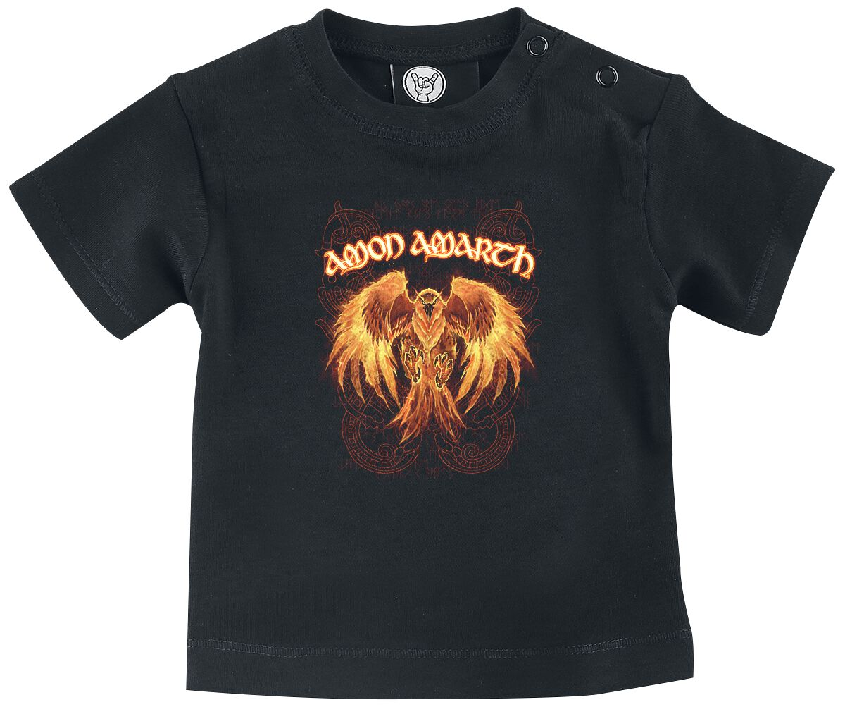 Image of Amon Amarth Burning Eagle Baby Baby-Shirt schwarz