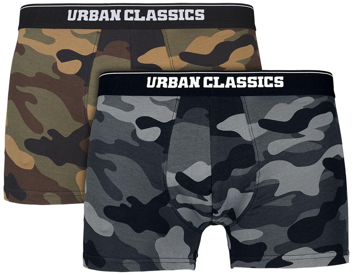 Urban Classics 2-Pack Camo Boxer Shorts Boxershort-Set camouflage TB2047