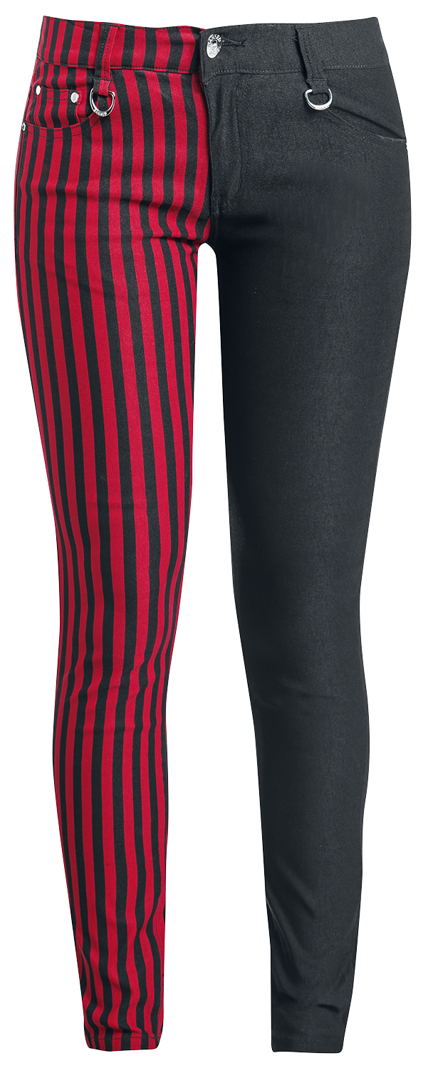 Banned - Punk Trousers - Girls trousers - black-red image