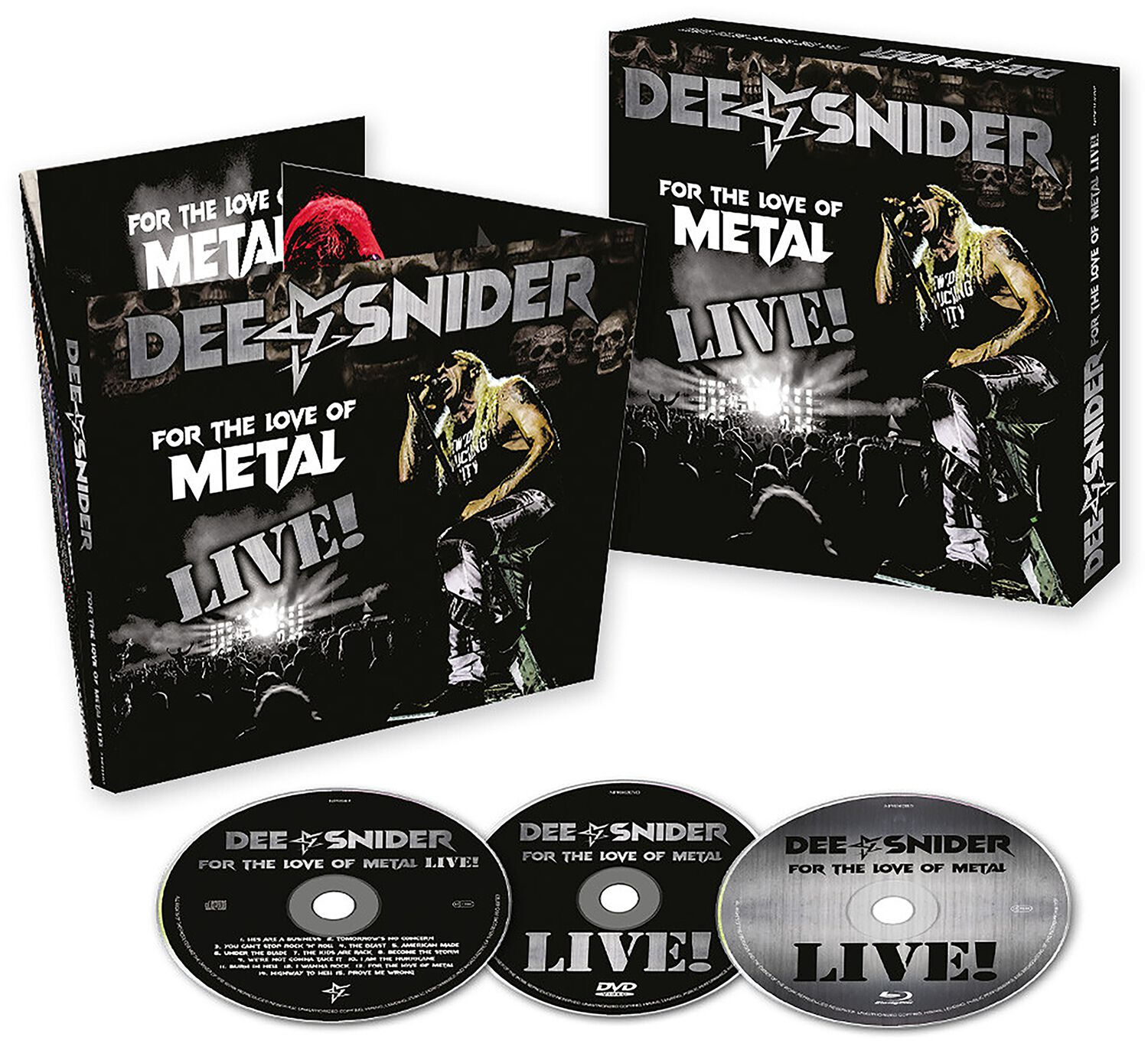Image of Snider, Dee For the love of Metal - Live CD & DVD & Blu-ray Standard