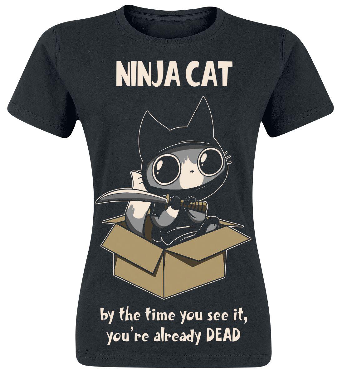 Cupcake Cult Ninja Cat T-Shirt schwarz