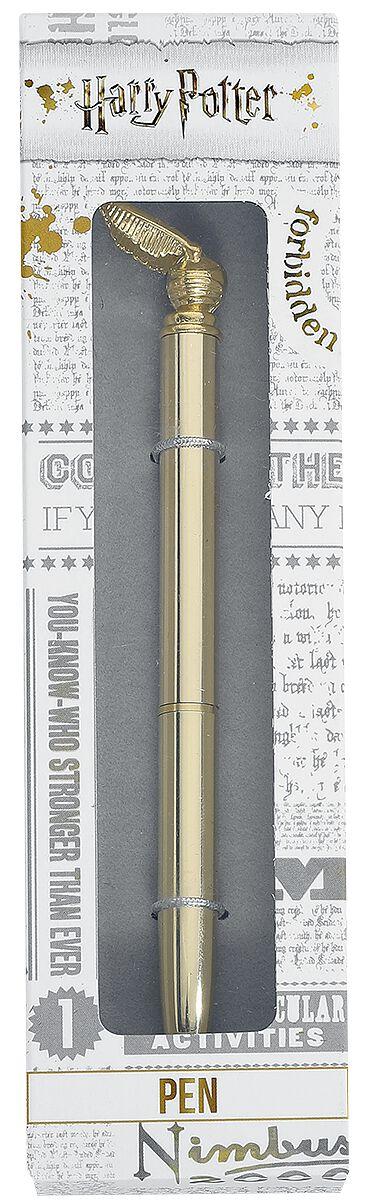 Harry Potter Goldener Schnatz Kugelschreiber goldfarben HPPM004