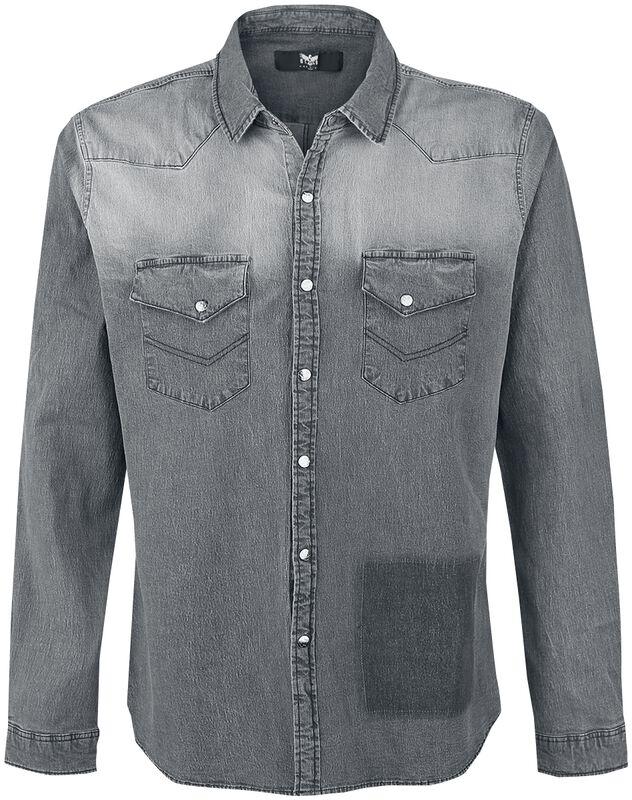 Graues Hemd mit Waschung