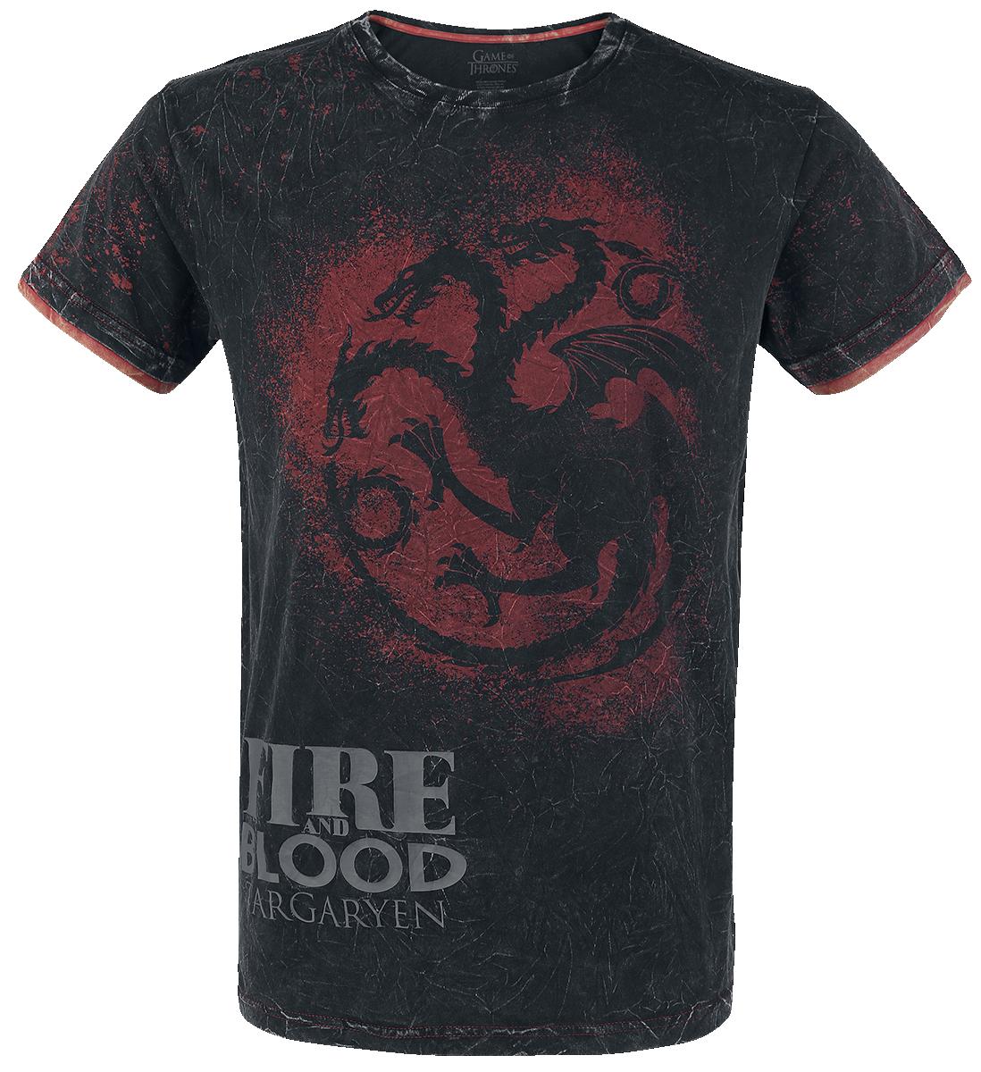 Game of Thrones - Targaryen - Fire And Blood - T-Shirt - dark grey image