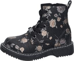 Metallic Flower Boots