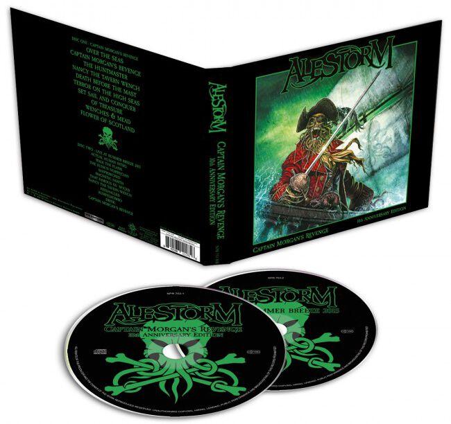 Image of Alestorm Captain Morgan's revenge - 10th anniversary edition 2-CD Standard