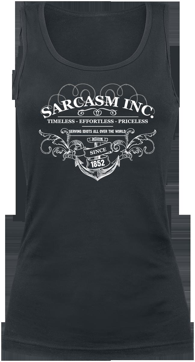 Sarcasm Inc. -  - Girls Top - black image