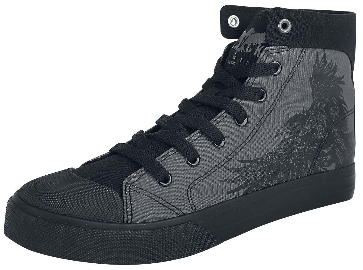 Sneakers für Frauen - Black Premium by EMP Walk The Line Sneaker high grau schwarz  - Onlineshop EMP