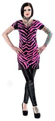 Kleid in Zebra-Optik