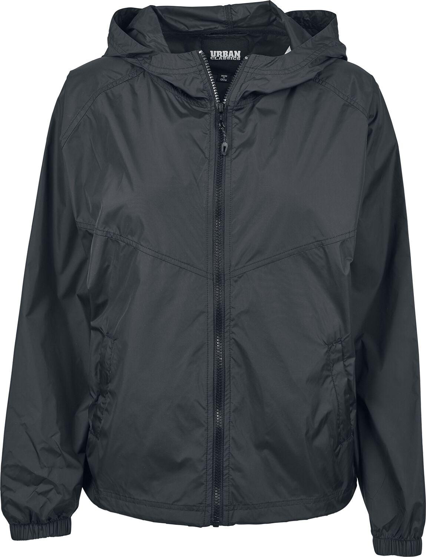 Jacken für Frauen - Urban Classics Ladies Oversize windbreaker Windbreaker schwarz  - Onlineshop EMP