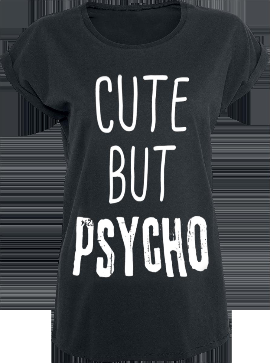 Cute But Psycho -  - Girls shirt - black image
